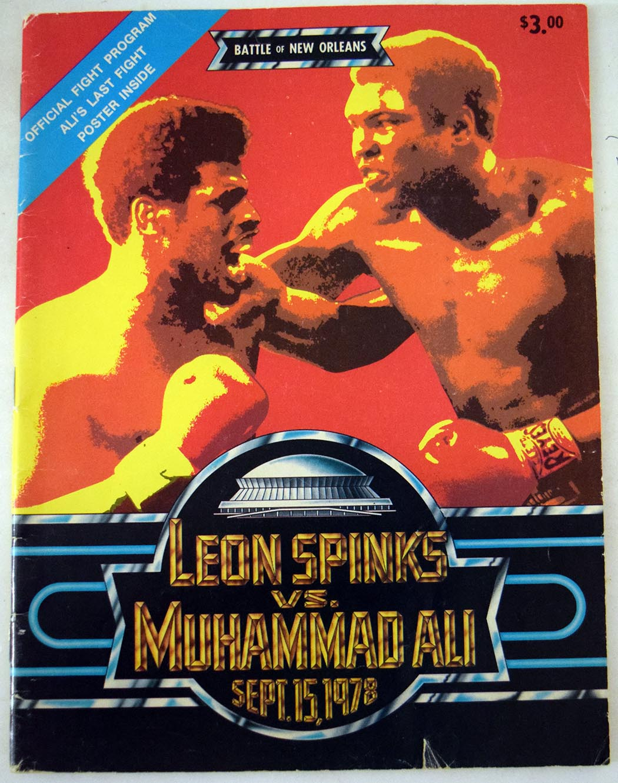 Lot #842 1978 Program  Ali/Spinks 9/15/78 Cond: Ex