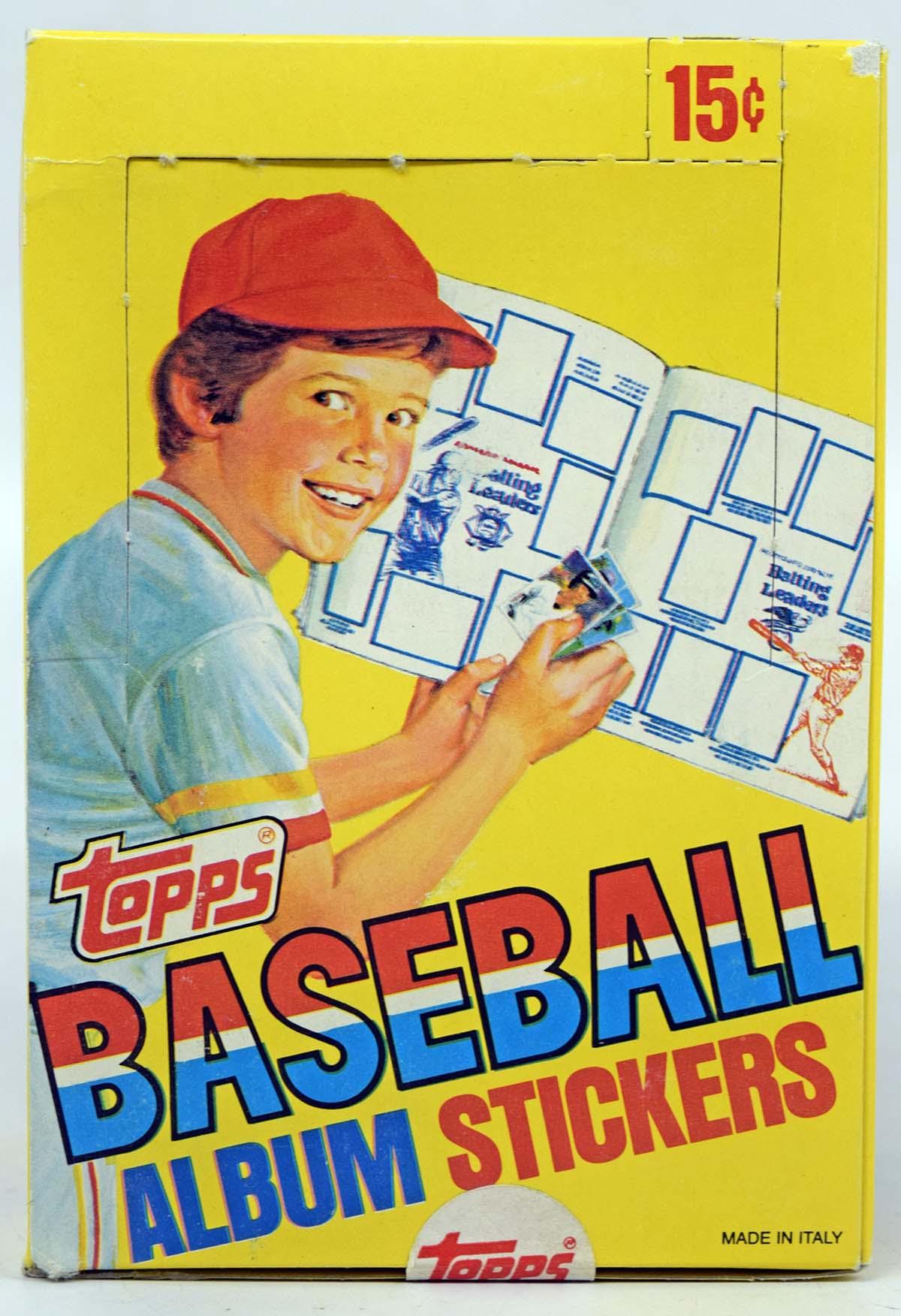 1981 Topps Stickers  Box w/100 Packs
