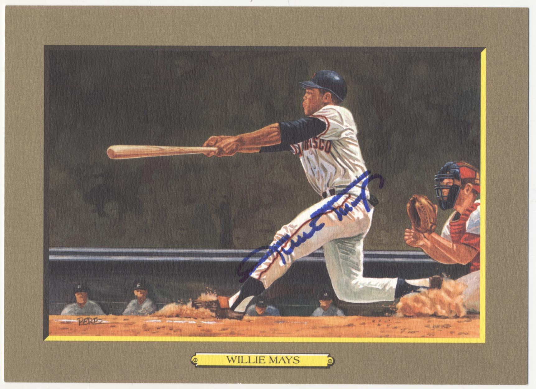 1985 Perez Steele Greatest Moments 65 Willie Mays 9.5