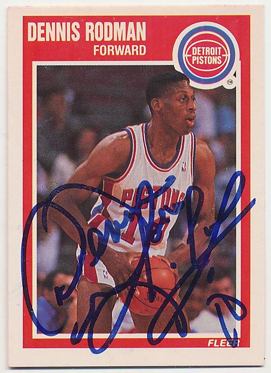 Lot #1020 1989 Fleer # 49 Dennis Rodman (JSA LOA) Cond: 9.5