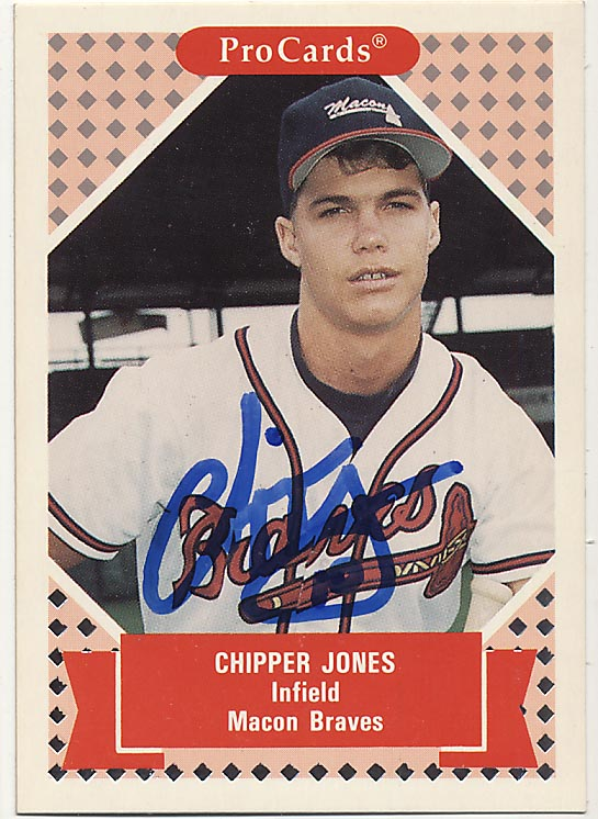 Lot #84 1991 Pro Cards # 190 Chipper Jones RC (JSA LOA) Cond: 9.5