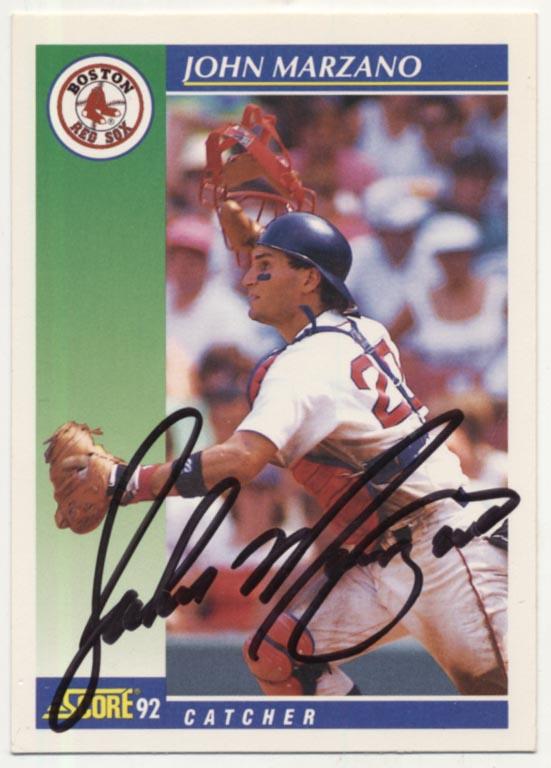 Lot #75 1992 Score # 539 John Marzano (D'2008) Cond: 9.5