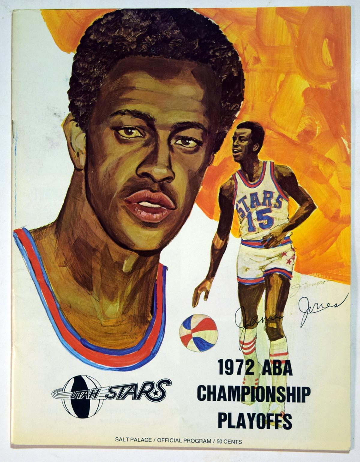 Lot #883 1972 Program  Utah/Indiana ABA Playoff Program Cond: Ex-Mt+