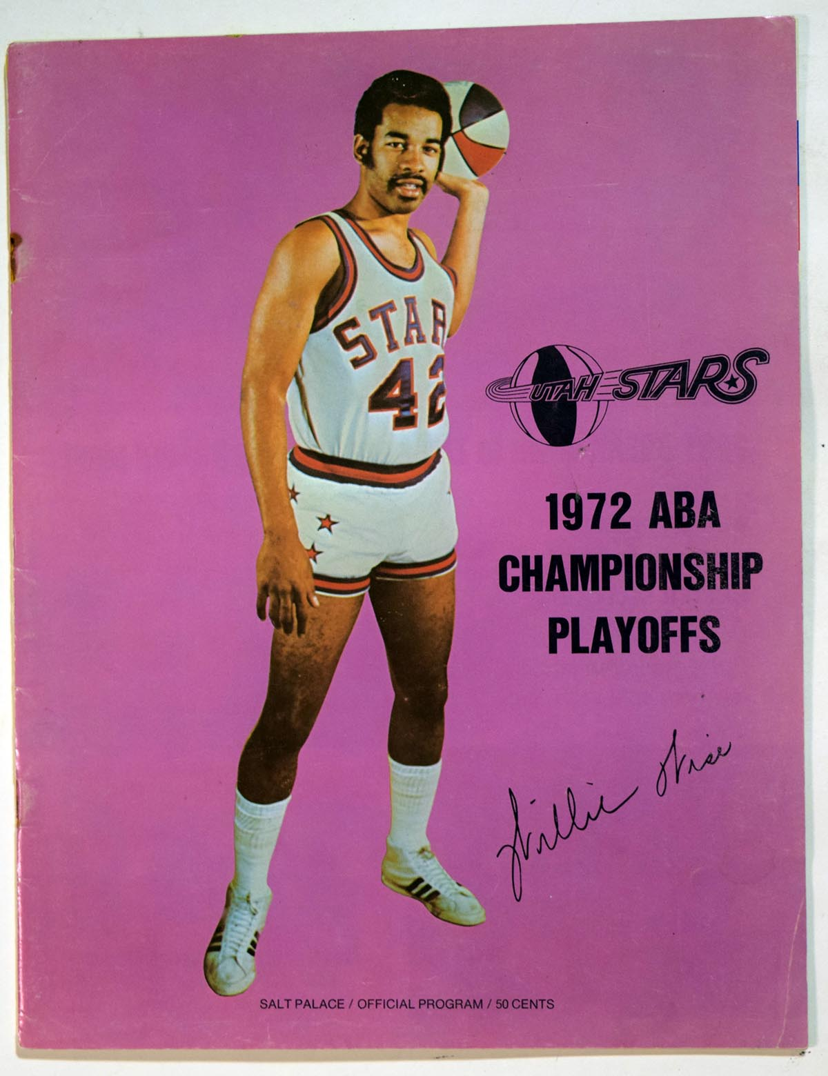 Lot #993 1972 Program  Utah/Dallas ABA Playoff Program Cond: Ex
