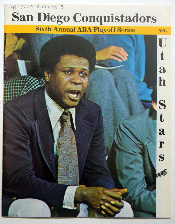 Lot #886 1973 Program  Conquistadors - Stars Playoffs - (04/07/73) Cond: Ex-Mt/NM mk