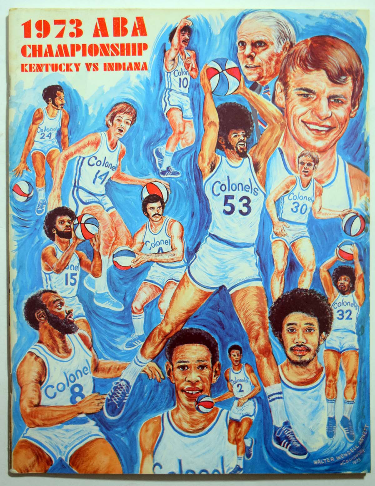 Lot #986 1973 Program  Kentucky - Indiana ABA Championship Cond: Ex-Mt/NM