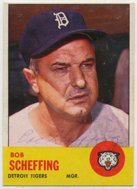 Lot #72 1963 Topps # 134 Scheffing Cond: 7