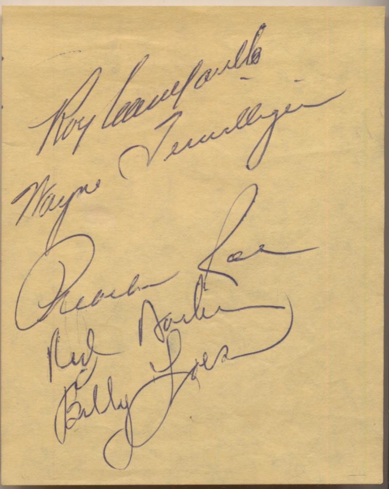 Lot #55  Album Page  Campanella, Roy Signed Page Cond: 9.5
