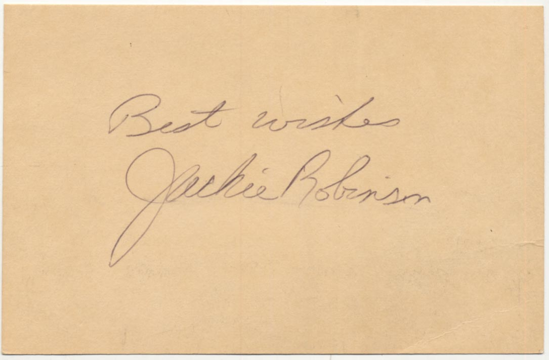 Lot #57  Album Page  Robinson, Jackie Cond: 8