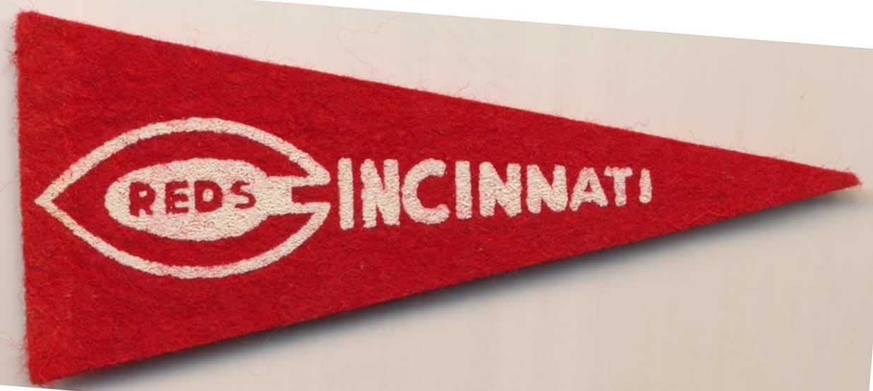 1950 American Nut & Chocolate Team Pennants  Reds NM