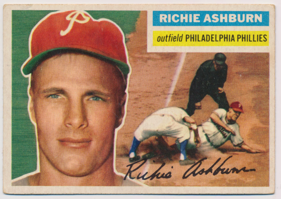 Lot #831 1956 Topps # 120 Ashburn Cond: Ex