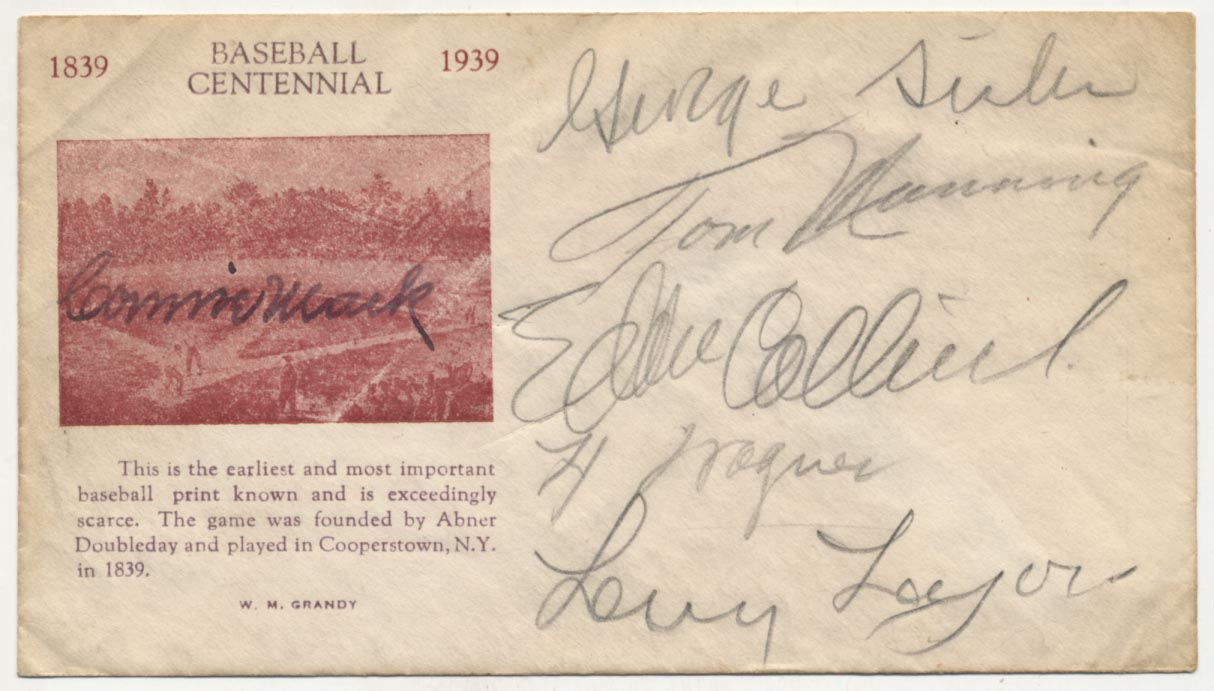 Lot #325  Cachet  1939 HOF Induction Cachet w/Lajoie & Wagner Cond: 8.5