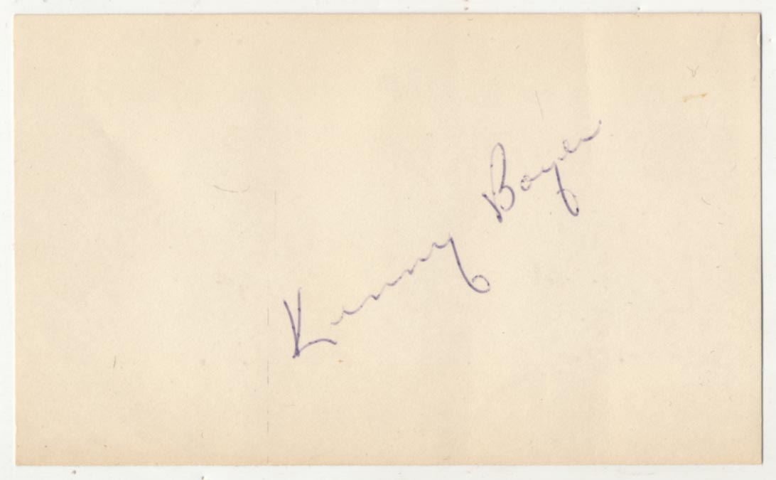 Lot #4  3 x 5  Boyer, Ken (very early) Cond: 8