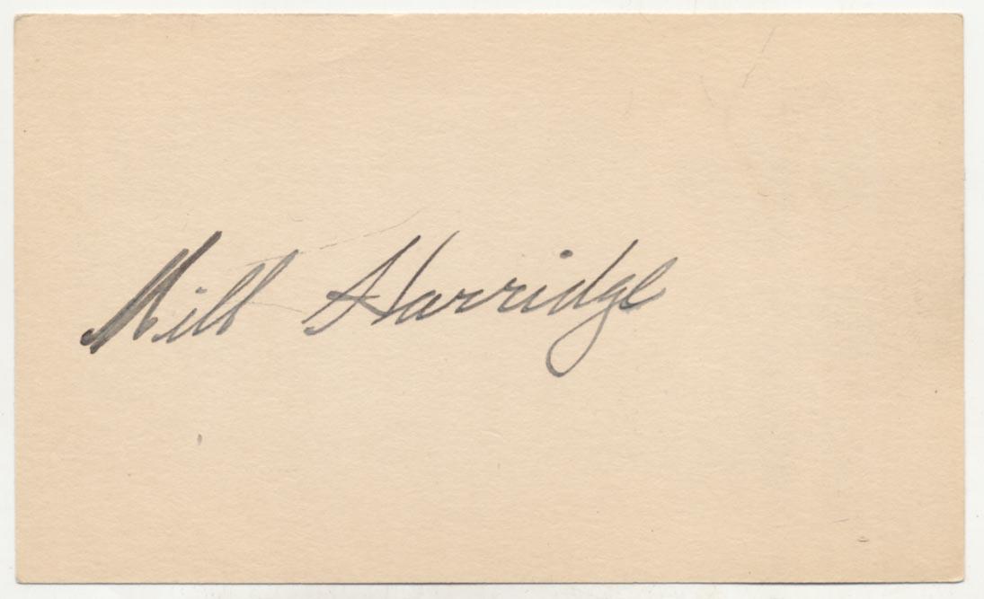 Lot #22  3 x 5  Harridge, William (fountain pen) Cond: 9