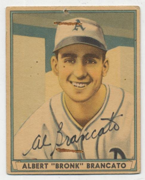 Lot #66 1941 Play Ball # 43 Brancato Cond: 9 (card low grade)
