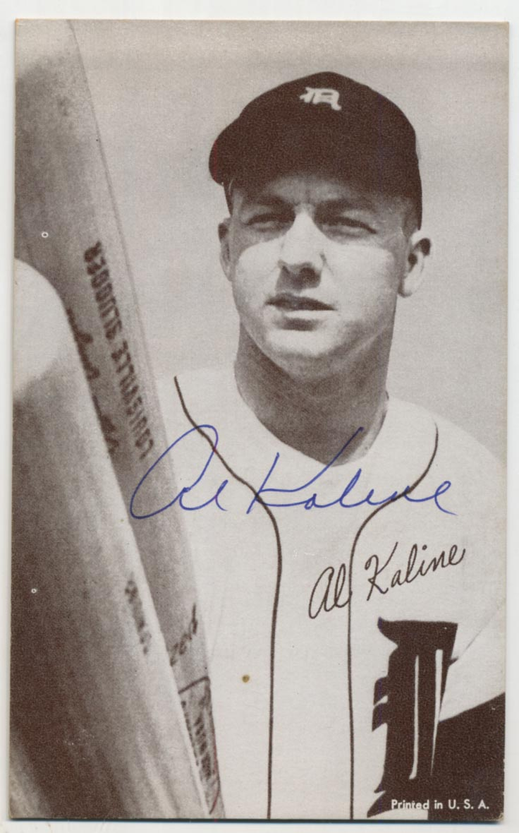 Lot #71 1947 Exhibit  Kaline Portrait w/2 Bats Cond: 9.5