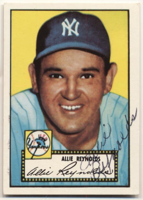 Lot #6 1952 Topps Reprint # 67 Allie Reynolds Cond: 8.5