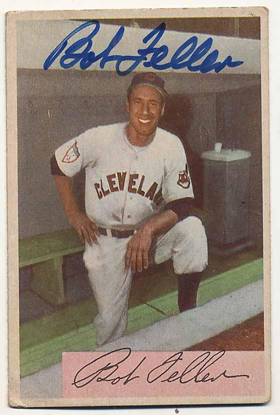 Lot #97 1954 Bowman # 132 Bob Feller (JSA LOA) Cond: 9.5