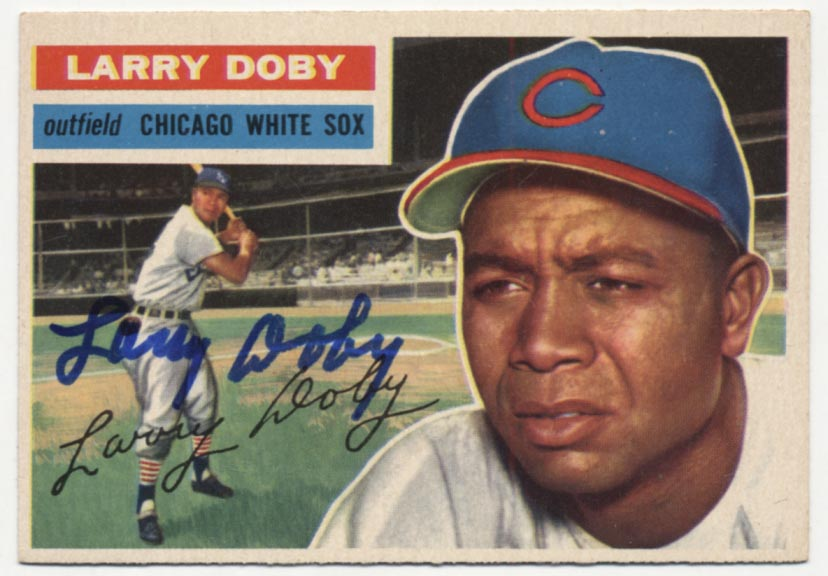 Lot #13 1956 Topps # 250 Doby Cond: 9.5