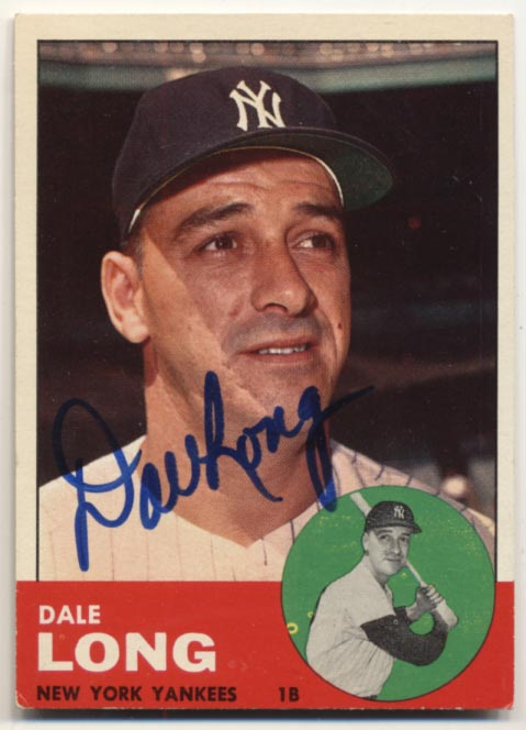 Lot #38 1963 Topps # 484 Dale Long Cond: 9.5