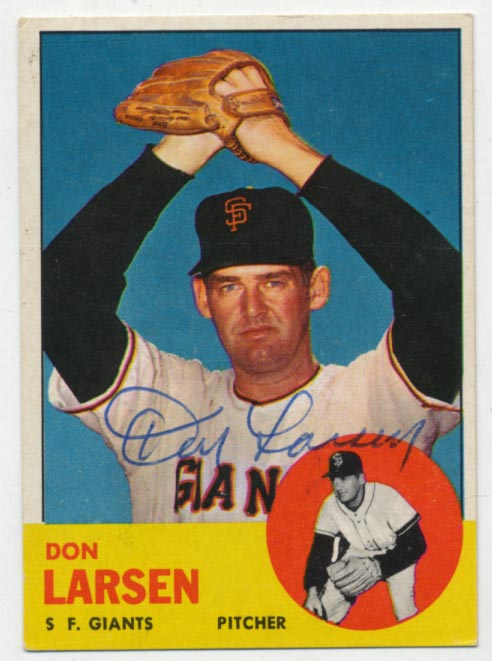 Lot #75 1963 Topps # 163 Larsen Cond: 9.5