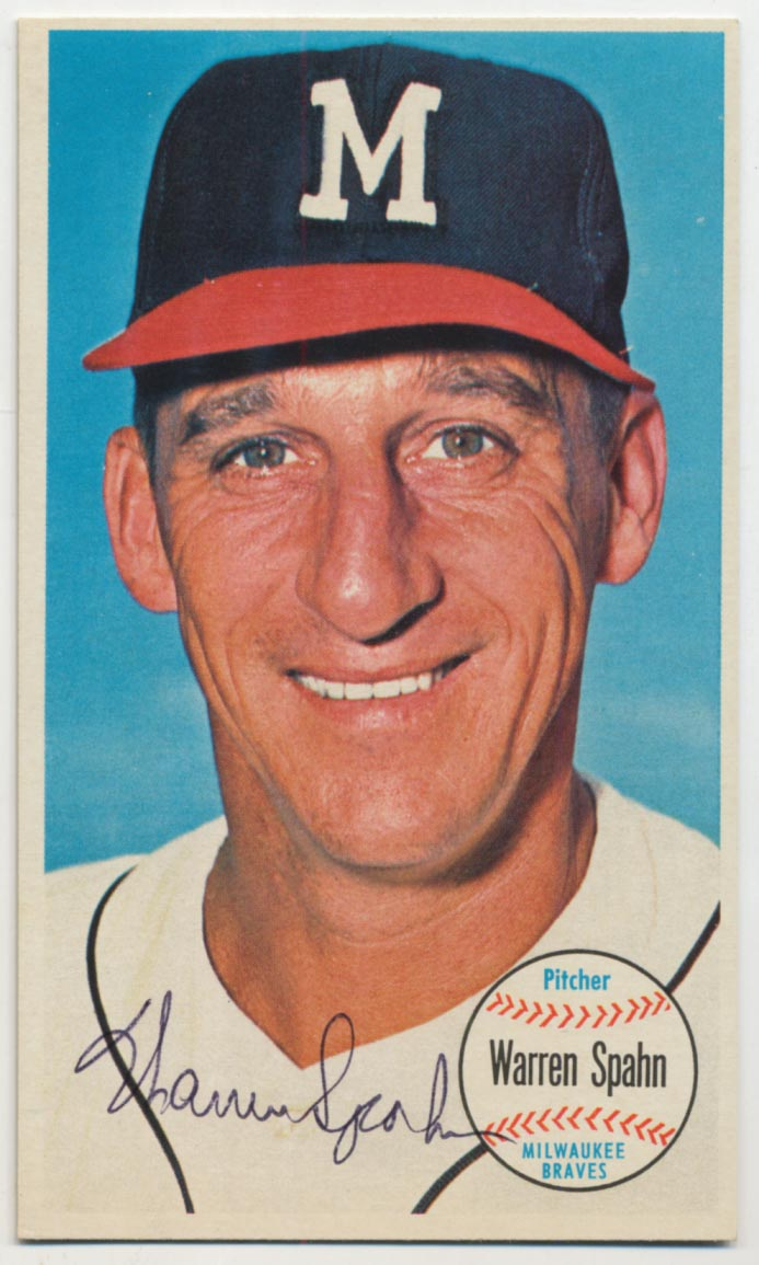 Lot #92 1964 Topps Giant # 31 Spahn Cond: 9
