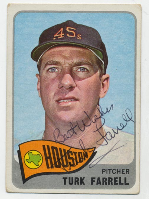 Lot #99 1965 Topps # 80 Dick Farrell Cond: 9