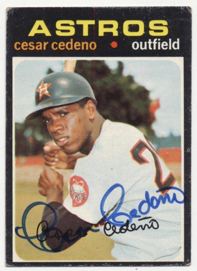Lot #48 1971 Topps # 237 Cedeno RC Cond: 9