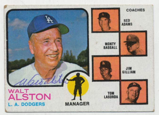Lot #91 1973 Topps # 569 Alston Cond: 9