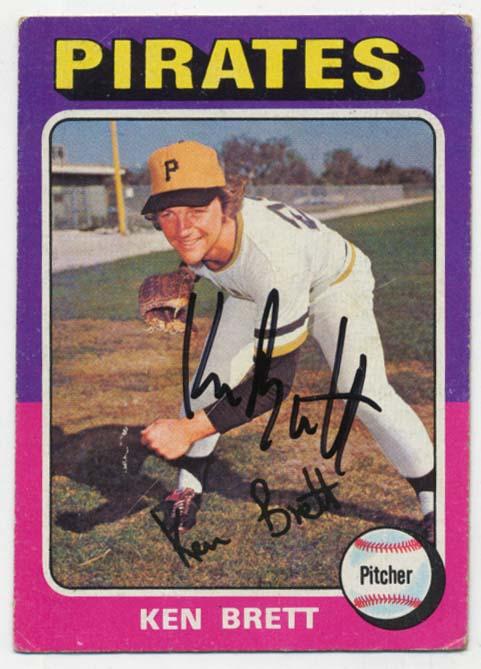 Lot #95 1975 Topps # 250 Ken Brett Cond: 9.5
