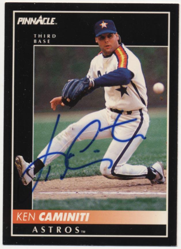 Lot #74 1992 Pinnacle # 43 Ken Caminiti ( JSA LOA) Cond: 9