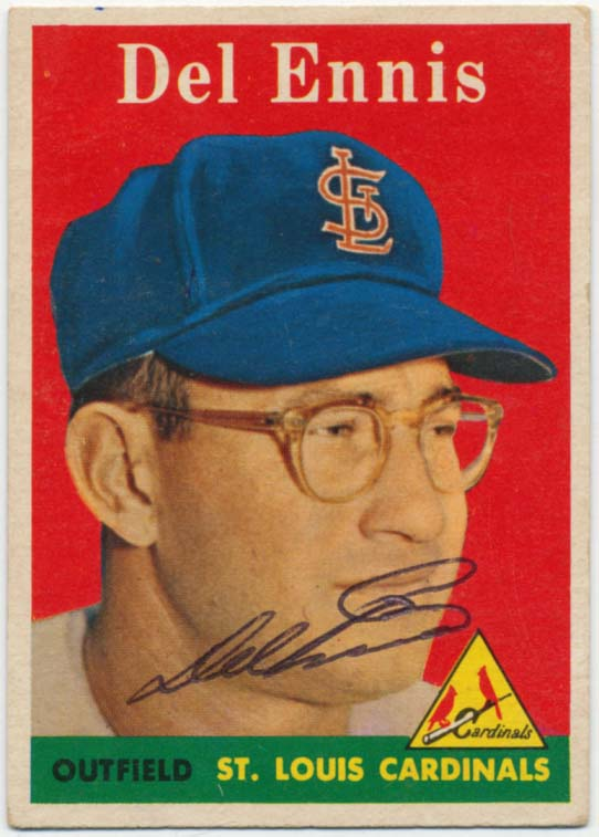 Lot #43 1958 Topps # 60 Del Ennis Cond: 9.5