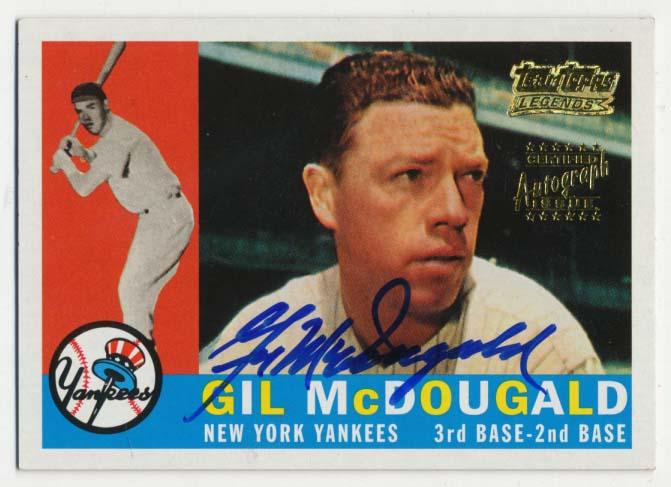 Lot #94 2001 Topps Reprint  McDougald (60T) Cond: 9.5