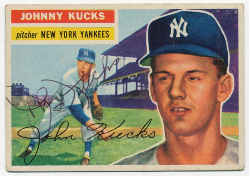 Lot #24 1956 Topps # 88 Kucks Cond: 9