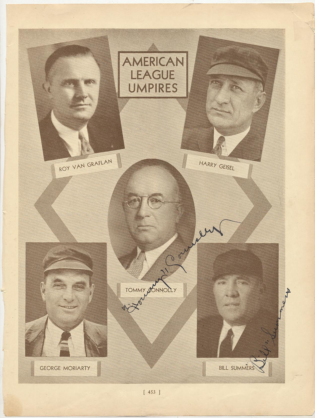 Lot #12  Who's Who Page  Connolly, Tom Signed Page Cond: 9.5