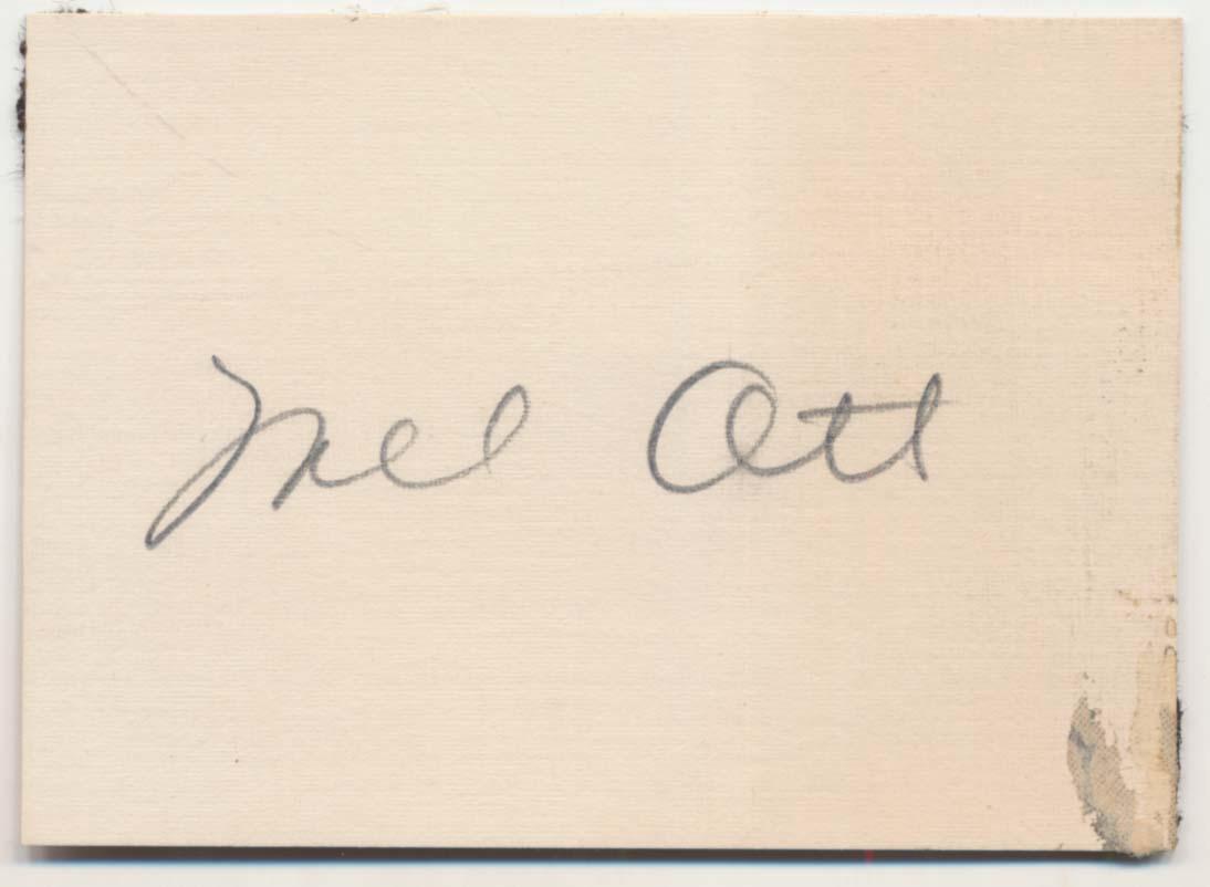 Lot #44  Cut  Ott, Mel Cond: 9