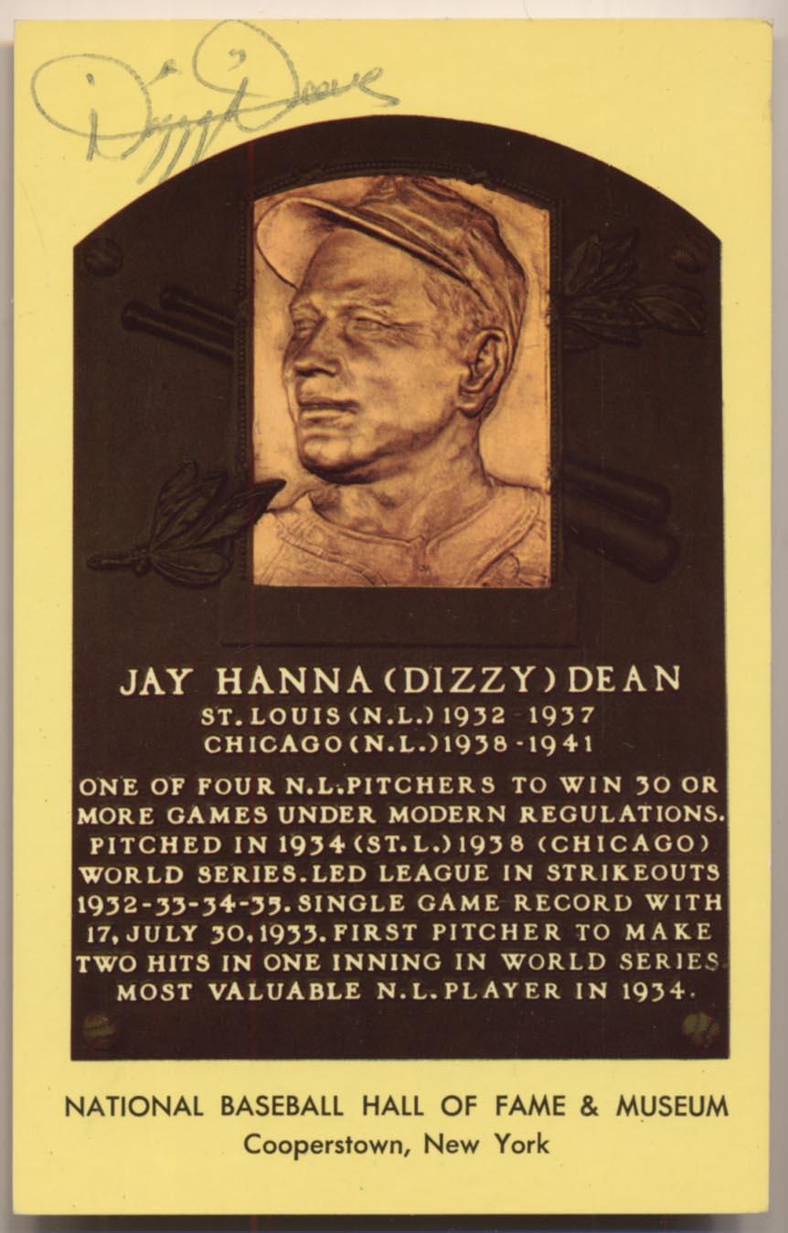 Lot #125  Yellow HOF Plaque # 38 Dizzy Dean Cond: 8.5