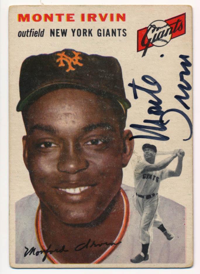 Lot #17 1954 Topps # 3 Irvin (JSA LOAA) Cond: 9.5