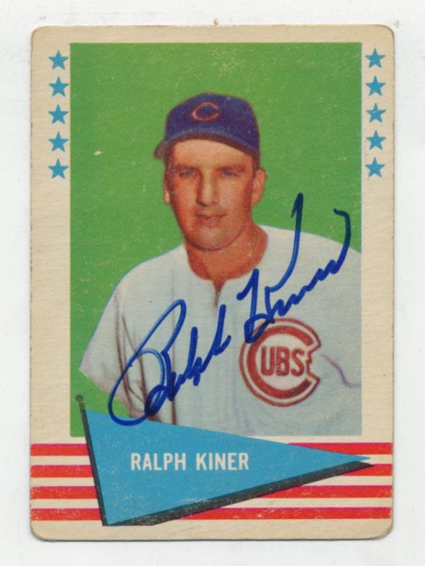 Lot #94 1961 Fleer # 50 Kiner Cond: 9.5