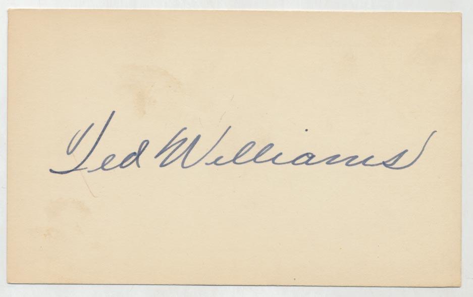 3 x 5  Williams, Ted,    9.5 (vintage)