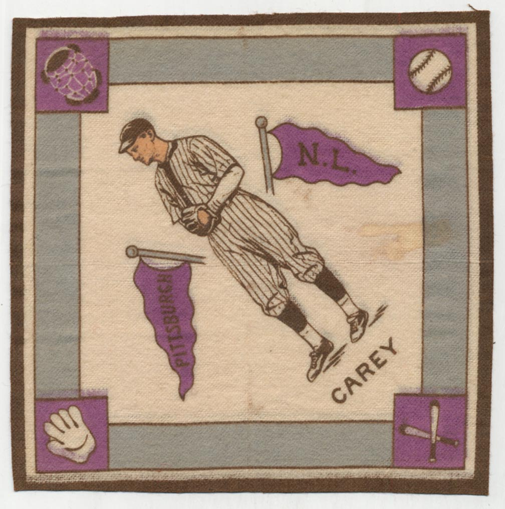 Lot #81 1914 B18 Blanket # 11.1 Max Carey (purple pennants) Cond: Ex