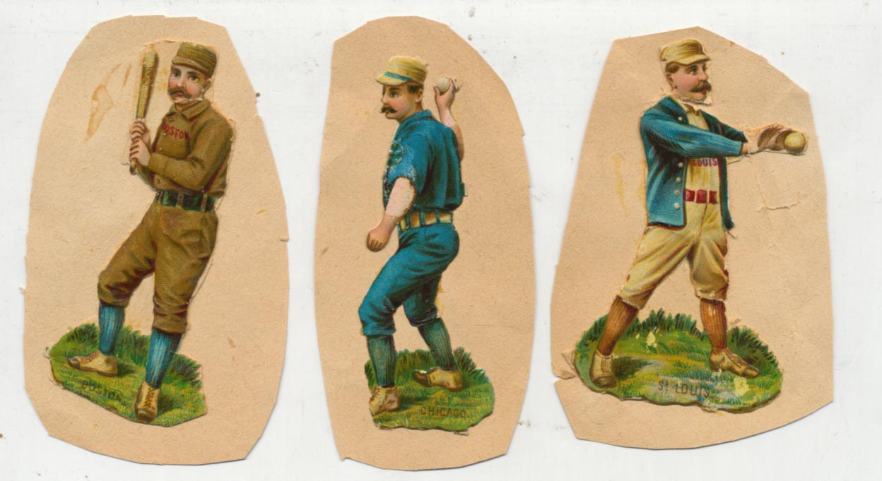 Lot #11 1895 Mayo Die-Cuts  Lot of 3 Different Cond: VG