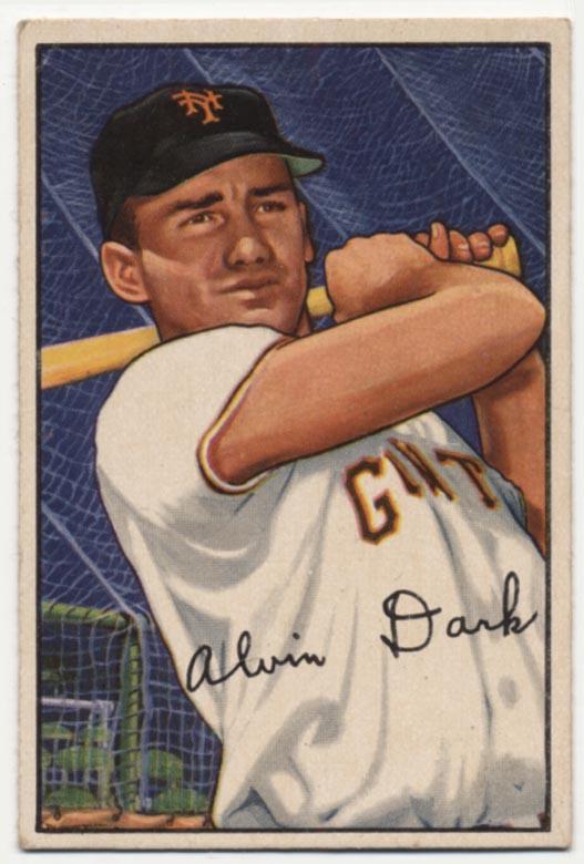 Lot #298 1952 Bowman # 34 Dark Cond: VG-Ex/Ex