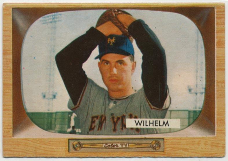 Lot #703 1955 Bowman # 1 Wilhelm Cond: VG