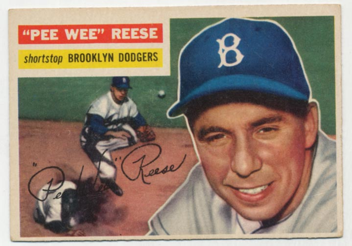 Lot #567 1956 Topps # 260 Pee Wee Reese Cond: VG+