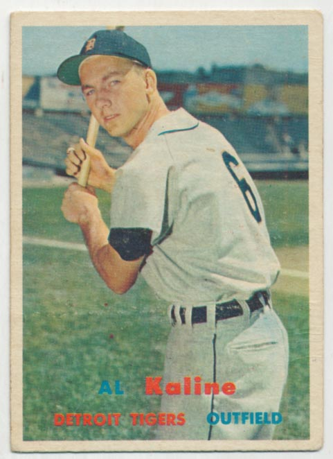 Lot #587 1957 Topps # 125 Kaline Cond: VG+