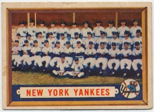 Lot #586 1957 Topps # 97 Yanks TC Cond: VG