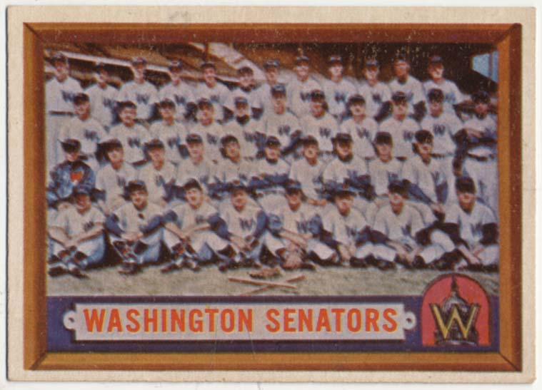 Lot #881 1957 Topps # 270 Senators TC Cond: Ex-Mt+