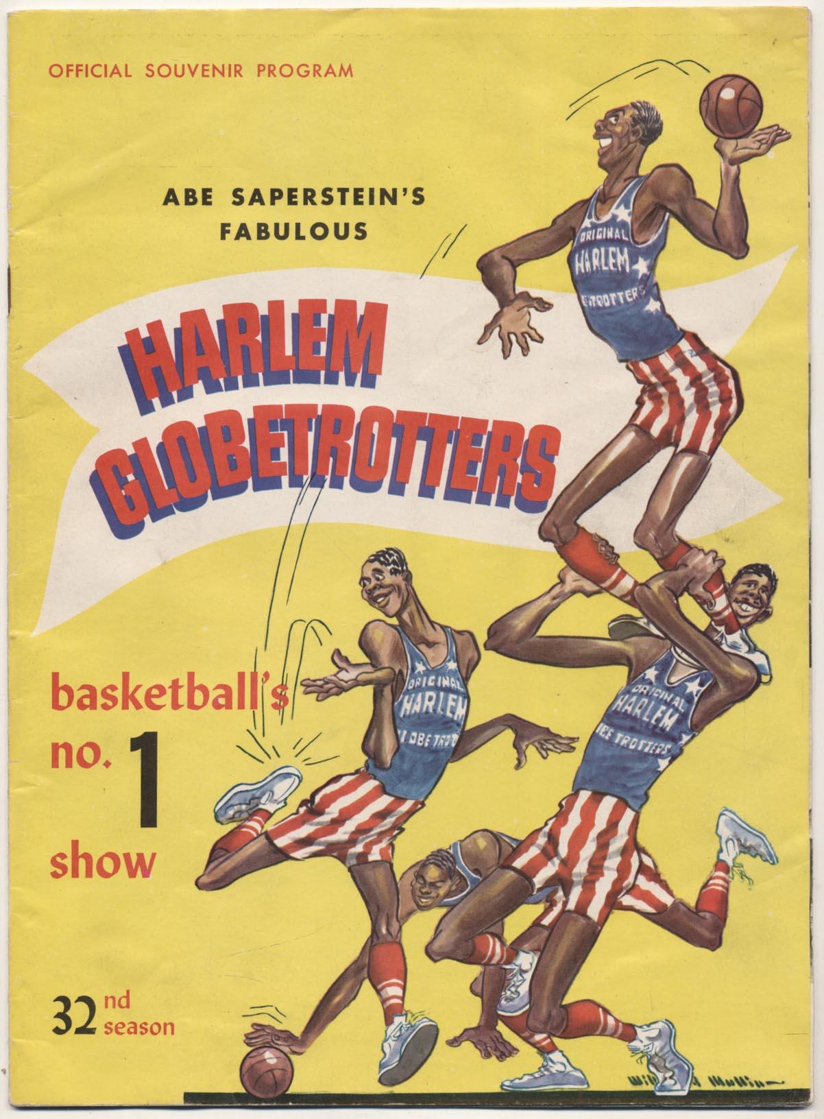 Lot #811 1958 Program  Harlem Globetrotters w/Wilt Chamberlain Cond: Ex+