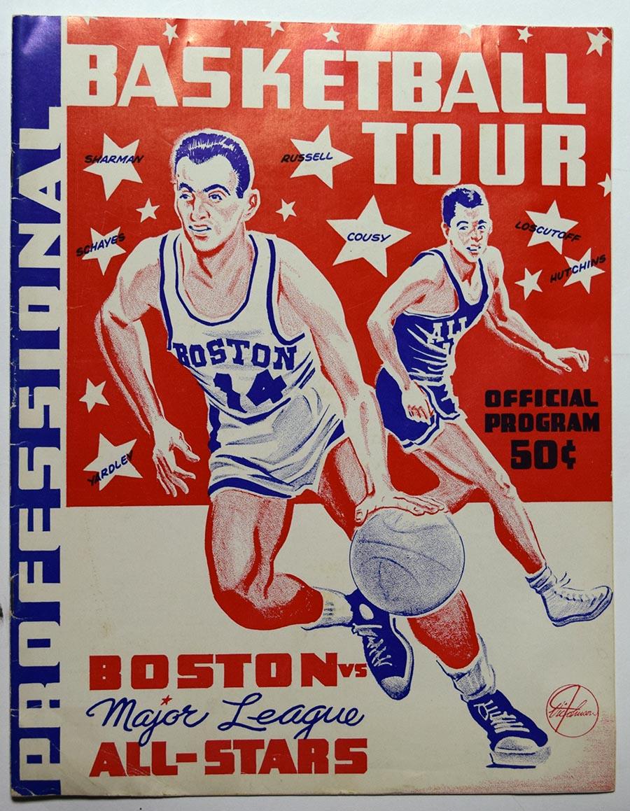 Lot #810 1957   Rare Boston Celtic Tour/All Star Program Cond: Ex